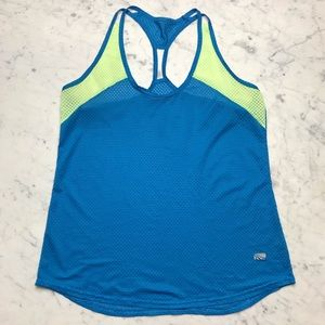 marika Blue Green Racerback Gym Athletic Tank Top